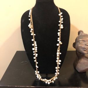 Stella and Dot Long pearl necklace